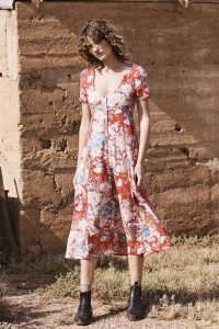 Alice Day Dress in Francis Floral red by Auguste the Label