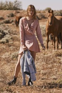 Harvey Wrap Mini in Blush by Auguste the Label