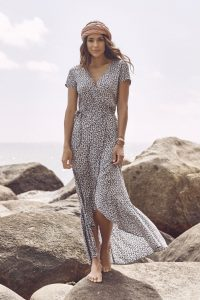 Daisy Love Wrap Maxi Navy by Auguste the Label