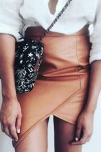 Tan Wrap Skirt 5