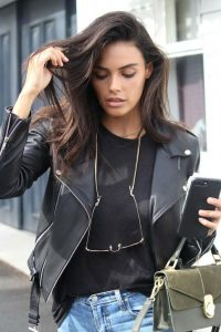 Classic Leather Biker Jacket by Zaliah