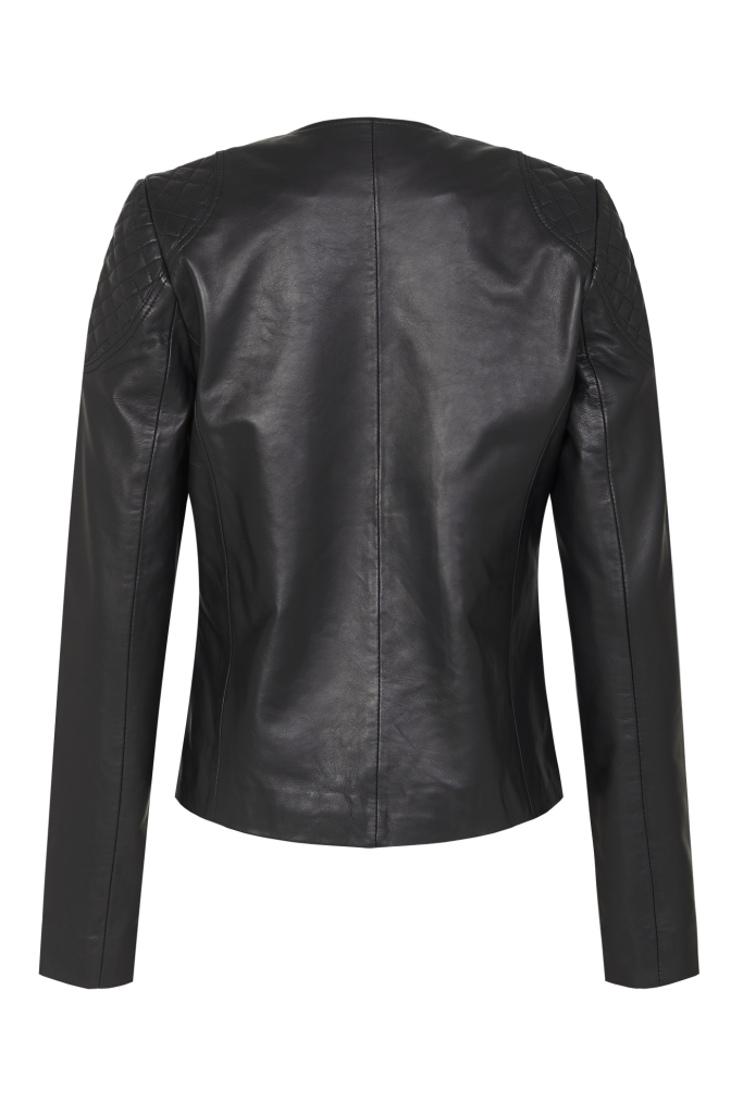 One Only Black: One & Only Leather Jacket By Zaliah