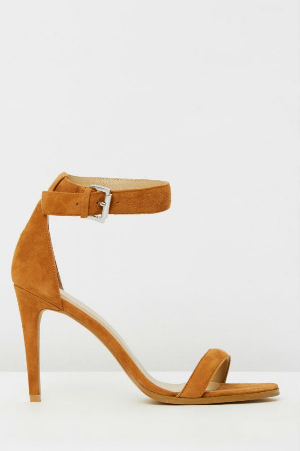 Ankle Strap Sandal in Tan Suede by Mode Collective