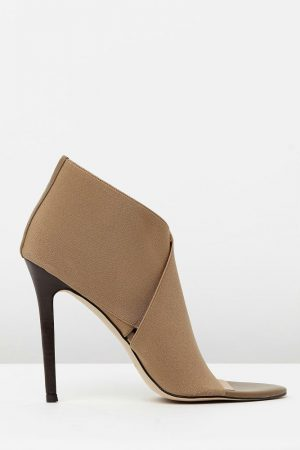 Elastic Bootie in Tan by Mode Collective