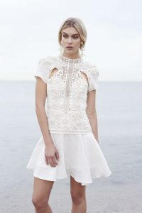 Gemini Dress in Ivory by Thurley