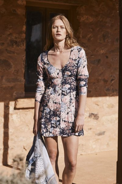 Alice Sleeved Play Dress in Francis Floral Navy Blue by Auguste the Label