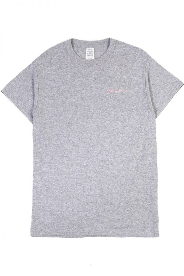 Girl Gang Grey Marle T Shirt by Double Trouble