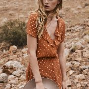 Lilly Day Dress in Classic Polka Dot Rust by Auguste the Label