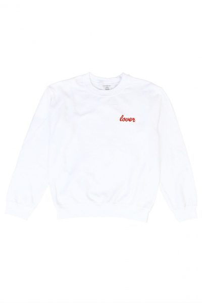 Lover White Jumper Red Embroidery Double Trouble Gang