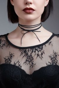 Petite Leather Necktie by Liberty Emma