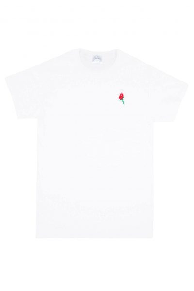 The Rose T Shirt White by Double Trouble Gang