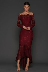 Marchesa Dress in Wine by Elle Zeitoune