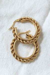 Twist Hoop Earrings by Brie Leon