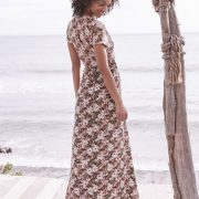 Wild Rose Maxi Wrap Dress Dusty Rose by Auguste the Label