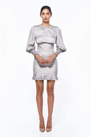 Cassandra Burnout Mini Dress by Misha Collection