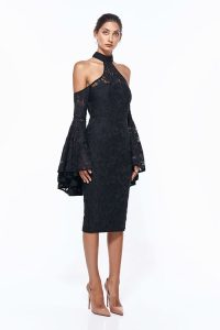 Poppy Lace Dress in Black by Misha Collection