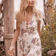 Ella Split Front Play Dress Natural by Auguste the Label