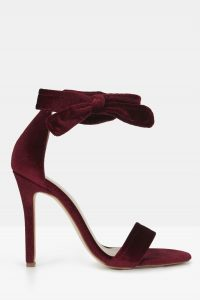 Sage Sandal in Bordeaux Velvet by Mode Collective