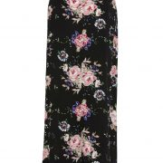 Wild Rose Maxi Wrap Skirt Vintage Bloom Black by Auguste the Label