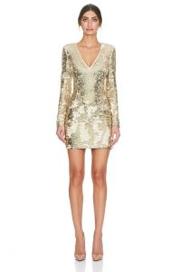 Kimberlia Dress Light Gold by Misha Collection