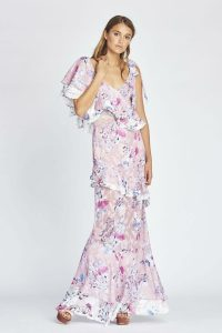 58739bee41b7 Alessandra Ruffle Maxi in Monet Bloom by We Are Kindred