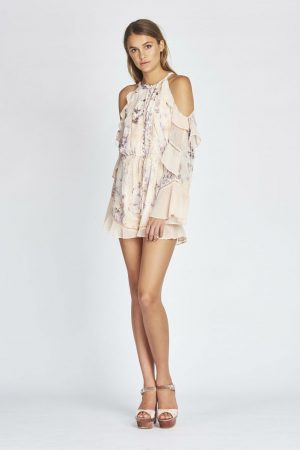 Paloma Cold Shoulder Romper in Sunset by We Are Kindred