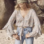 Frankie Poet Top Coral by Auguste the Label
