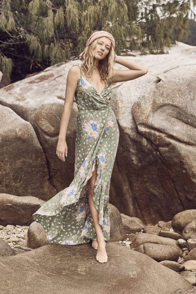 Eve Market Wrap Maxi Olive by Auguste the Label