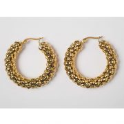 Large Pebble Hoops by Brie Leon