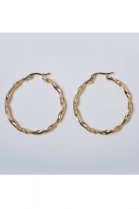 Soft Swirl Hoops by Brie Leon