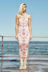 Pastel Peony Midi Dress by Thurley