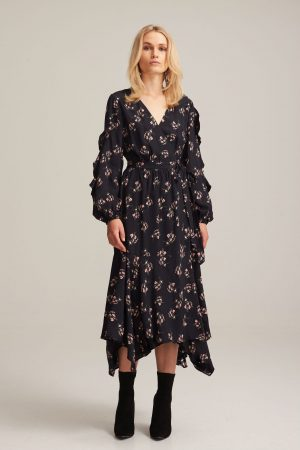 Koko Dress Black Flora by Steele