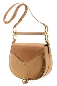 Babylon Bar Bag in Pecan Suede by Sancia