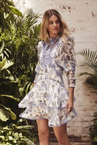 Bluebell Print Mini Dress by Thurley
