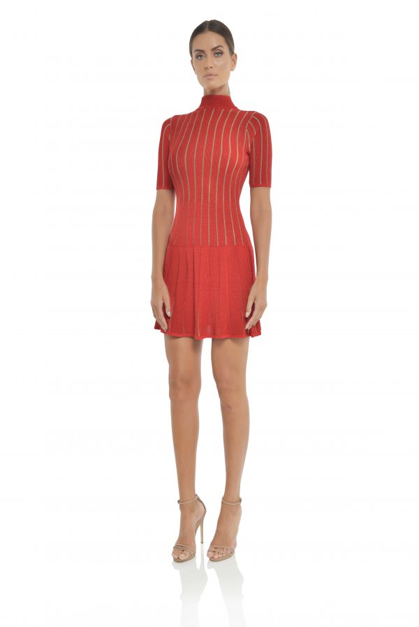 Marianne Mini Dress in Red by Misha Collection