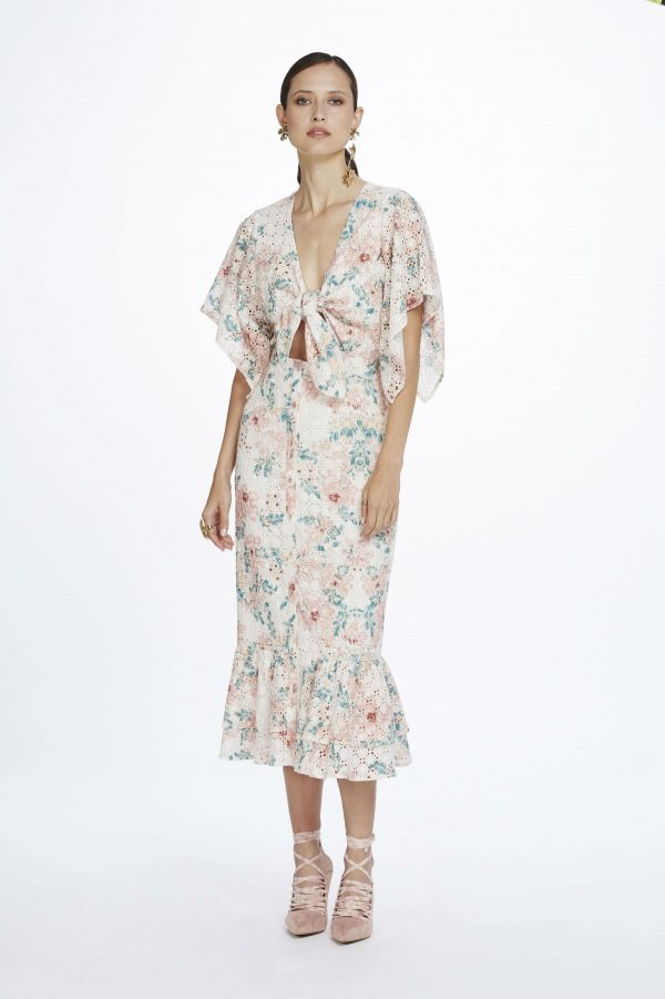 Valentine Tie Front Midi Dress by We Are Kindred