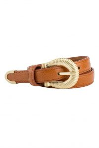Kenza Belt in Cognac by Sancia