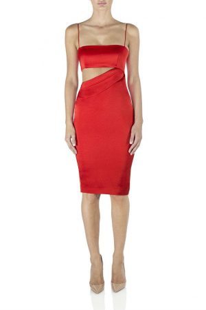Selina Slip Dress in Red by Misha Collection
