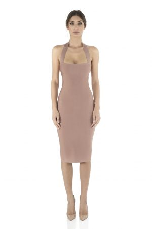 Julia Bandage Dress in Dusty Rose by Misha Collection