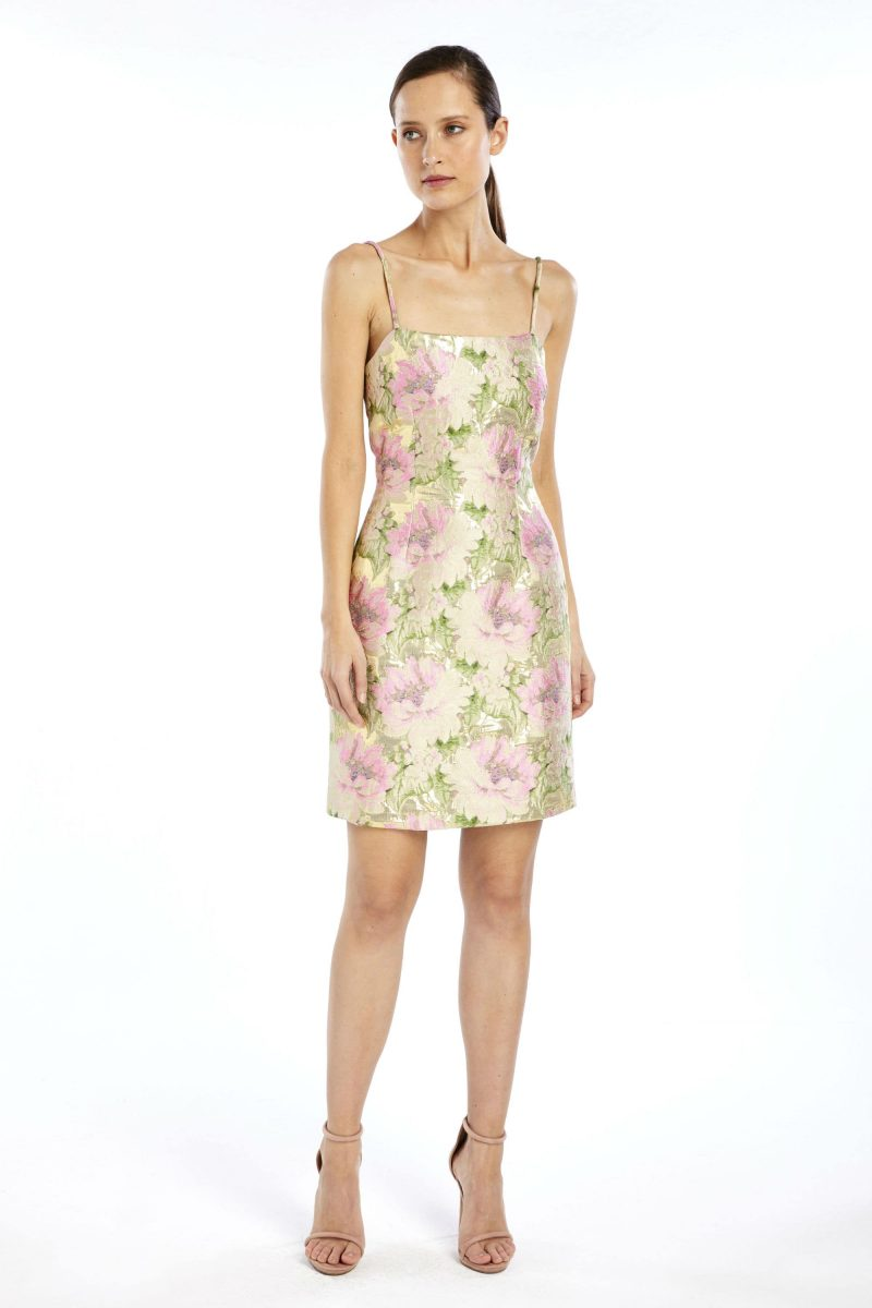 facf87cfbab Dixie Mini Dress in Gold by We Are Kindred
