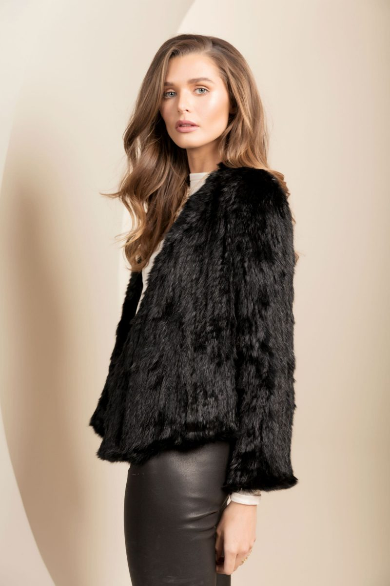 97bf81fe0 The Valencia Fur Jacket in Black by Bubish | STATE OF STYLE
