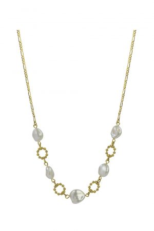Lola Pearl Chain Necklace by Brie Leon