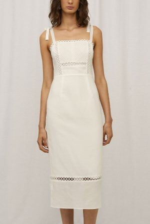 Cassandra Dress in Blanc by Steele